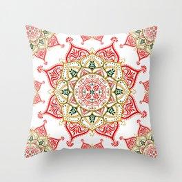 Mandala Indian Spirit Spiritual Zen Bohemian Hippie Yoga Mantra Meditation Throw Pillow
