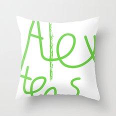 Alex cool tees Throw Pillow