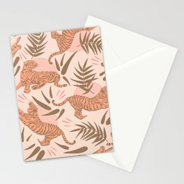Vintage, Boho Tigers and Bamboos Stationery Cards