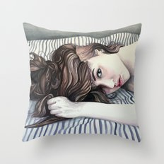 Striped Sheets Throw Pillow