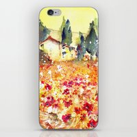 poppies iPhone & iPod Skins featuring Poppies by Michele Petri