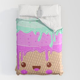 kawaii melted ice cream Comforters
