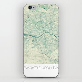 Newcastle upon Tyne Blue Vintage iPhone Skin