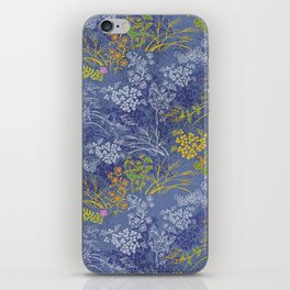 Vintage Japanese floral pattern iPhone Skin