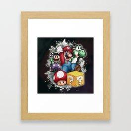 Mario et ses amis Framed Art Print