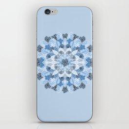 Crystals Succulents Mandala BLUE iPhone Skin