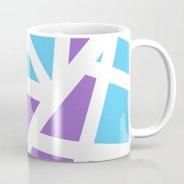 Abstract Interstate  Roadways Aqua Blue & Violet Color Coffee Mug