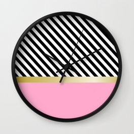 Grrls Areas and lines Wall Clock