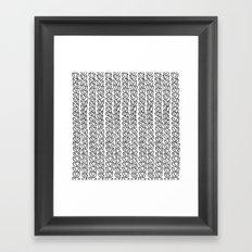 Knit Outline Zoom Framed Art Print