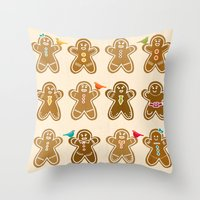 ginger Throw Pillows featuring Ginger by Kakel