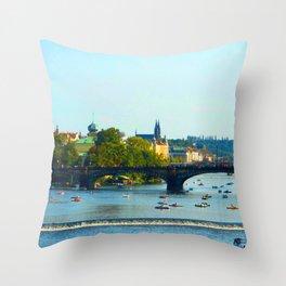Vltava | Prague Throw Pillow