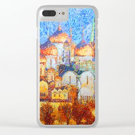 The Cathedrals of the Moscow Kremlin Clear iPhone Case