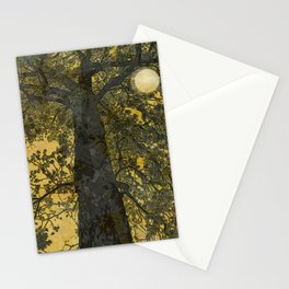 Pecan Tree and Moon Stationery Cards