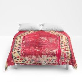 Ottoman  Antique Ushak Turkish Niche Kilim Comforters