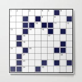 crosswords Metal Print