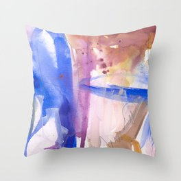 Watercolor Worlds Throw Pillow