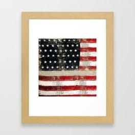 USA Flag ~ American Flag ~ Distressed Pattern ~ Ginkelmier Inspired Framed Art Print