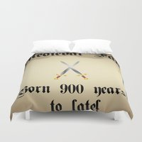 medieval Duvet Covers featuring Medieval Fan by Littlebell