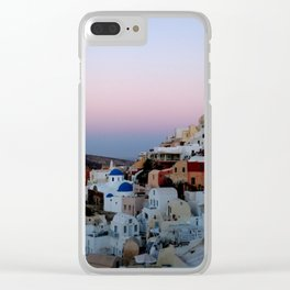 Dawn of Santorini Greece Clear iPhone Case