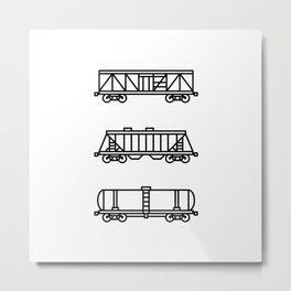Railroad Freight Cars Metal Print