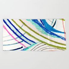 Wild: a mixed media piece in a variety of bright colors Beach Towel