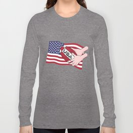 Rugby USA Flag Long Sleeve T-shirt