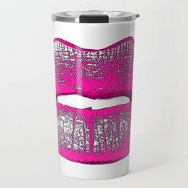 Tricky Pink Lips Travel Mug