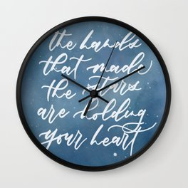 The hands that made the stars Wall Clock
