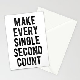 Inspirational - Make Every Second Count Stationery Cards