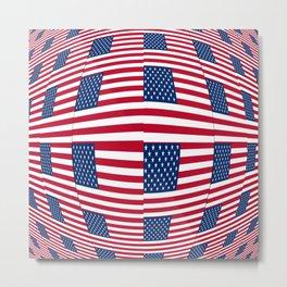 Flag of Usa 8- america,us,united states,american,spangled,star and strips Metal Print