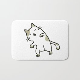 sleeping kitty Bath Mat