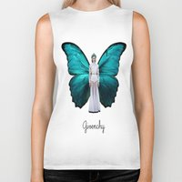 givenchy Biker Tanks featuring Papilio Givenchy Unframed by GirlAnnachronism