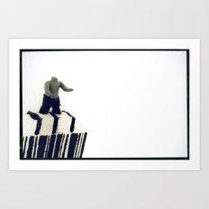 Stuck In a Hard Place | Bar Code Art Print