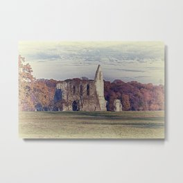 Newark Priory in Autumn Metal Print