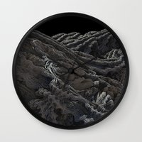 dark side of the moon Wall Clocks featuring Dark Side of the Moon by Lyle Hatch