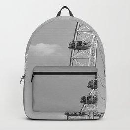 The London Eye (Black and White) Backpack