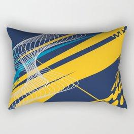 Blue Yellow  Abstract Future Technical Rectangular Pillow