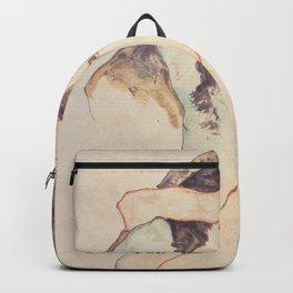 Two Women Embracing, Egon Schiele Backpack