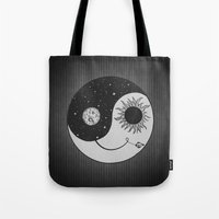 moonrise Tote Bags featuring Moonrise by Daniac Design