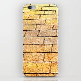 Yellow brick road iPhone Skin