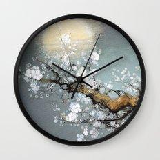 Winter Moon Wall Clock
