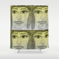 sketch Shower Curtains featuring sketch by Shelby Claire