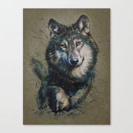 Wolf 2 background Canvas Print