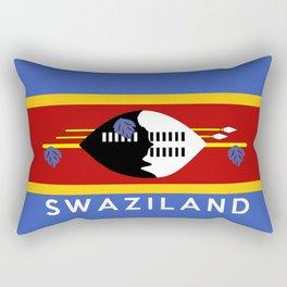 Swaziland country flag name text Rectangular Pillow