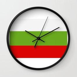 Bulgarian flag Wall Clock