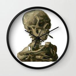 Van Gogh, Head of Skeleton Artwork Skull Reproduction, Posters, Tshirts, Prints, Bags, Men, Women, K Wall Clock