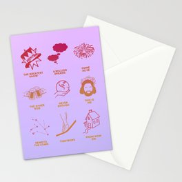 the greatest showman icons Stationery Cards