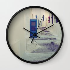 Santorini Door III Wall Clock
