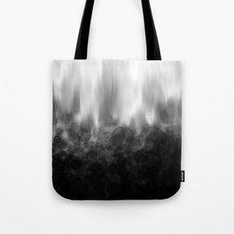 B&W Spotted Blur Tote Bag