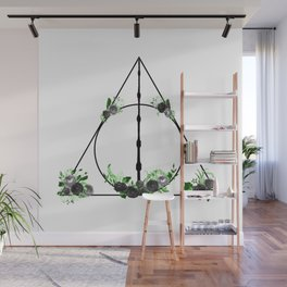 Deathly Hallows in Green and Gray Wall Mural